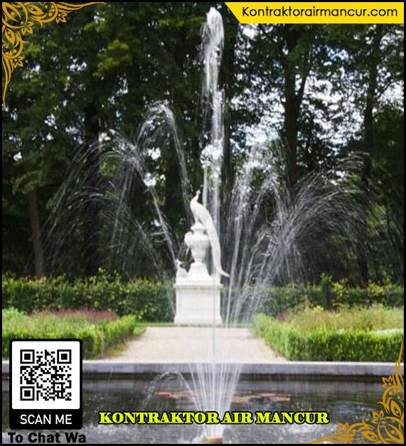 Hasil penggunaan nozzle air mancur fixed blossom ketika di kolam